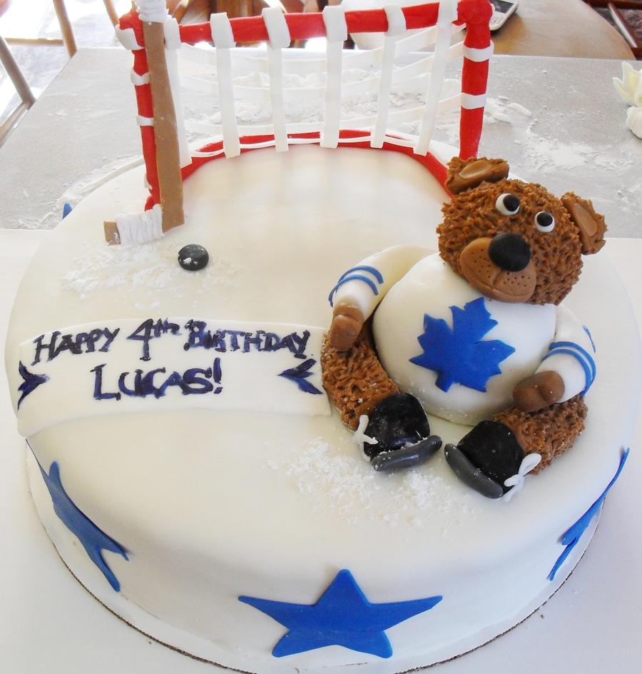 Astonishing Hockey Birthday Cake Cakecentral Com Funny Birthday Cards Online Benoljebrpdamsfinfo
