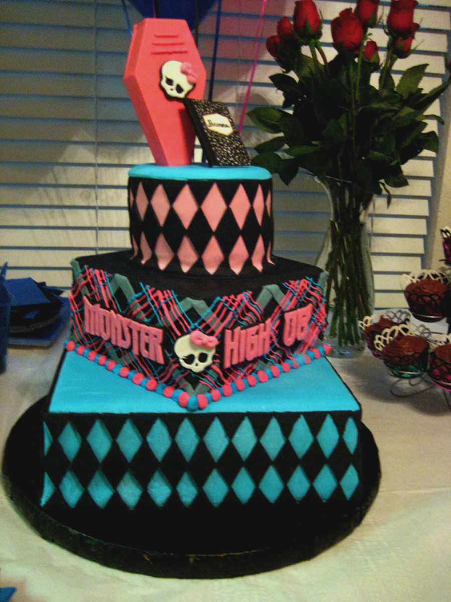 Pleasant Monster High Birthday Cake Cakecentral Com Funny Birthday Cards Online Fluifree Goldxyz