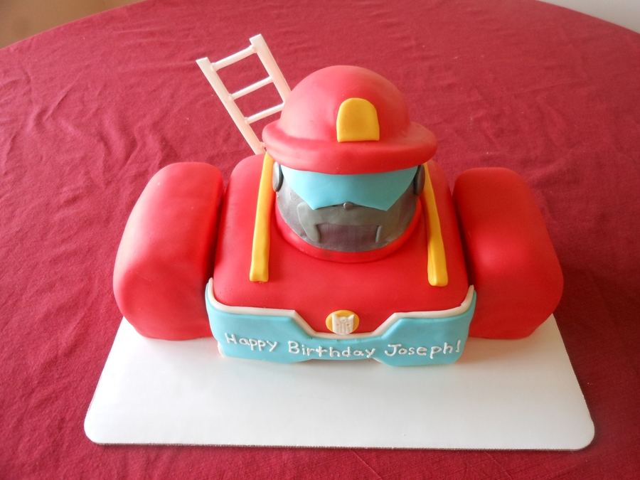 Heatwave The Rescue Bot on Cake Central