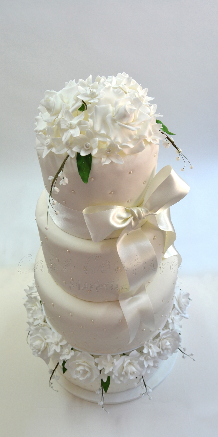 Lily In The Valley Wedding Cake on Cake Central
