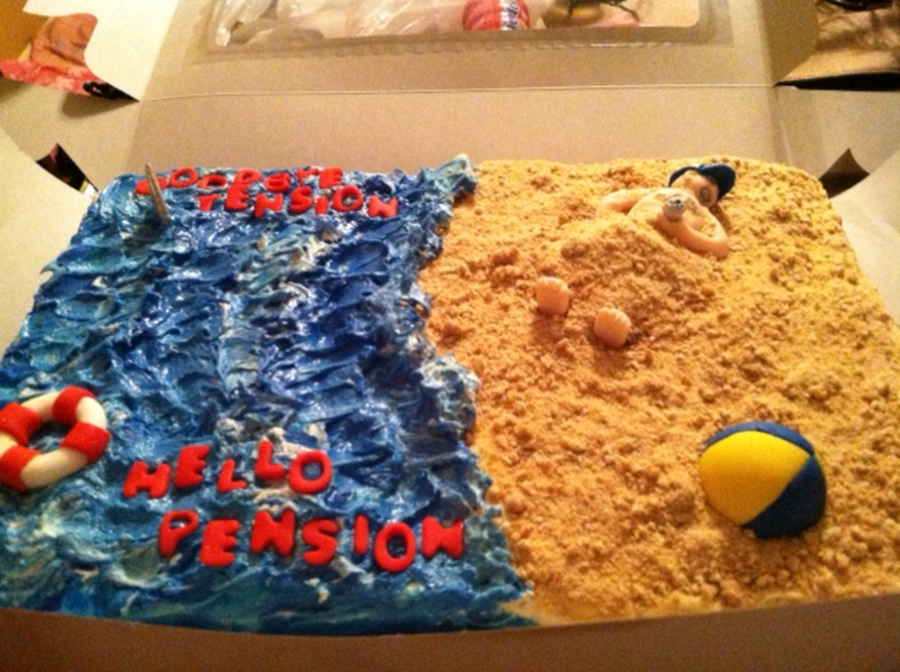 Retirement Beach Cake on Cake Central
