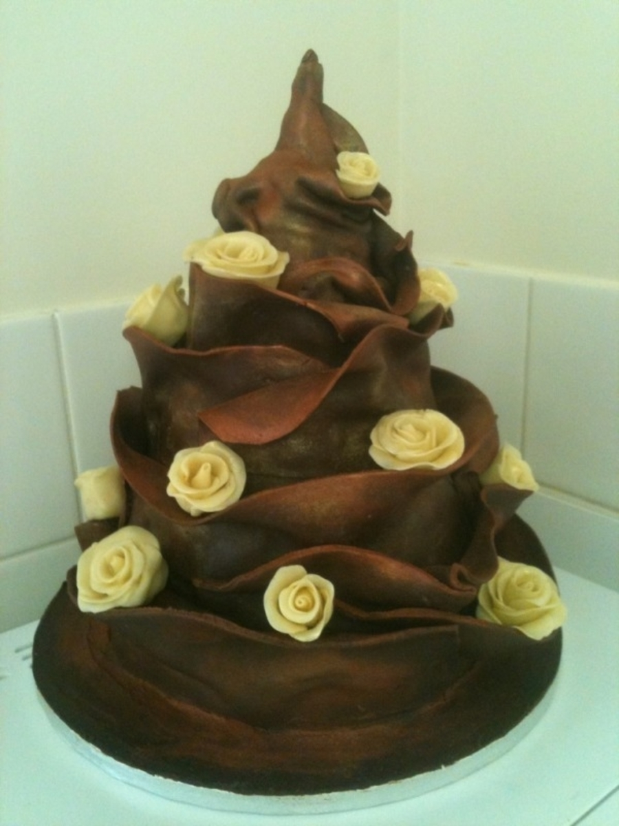 First Ever Chocolate Wrap on Cake Central