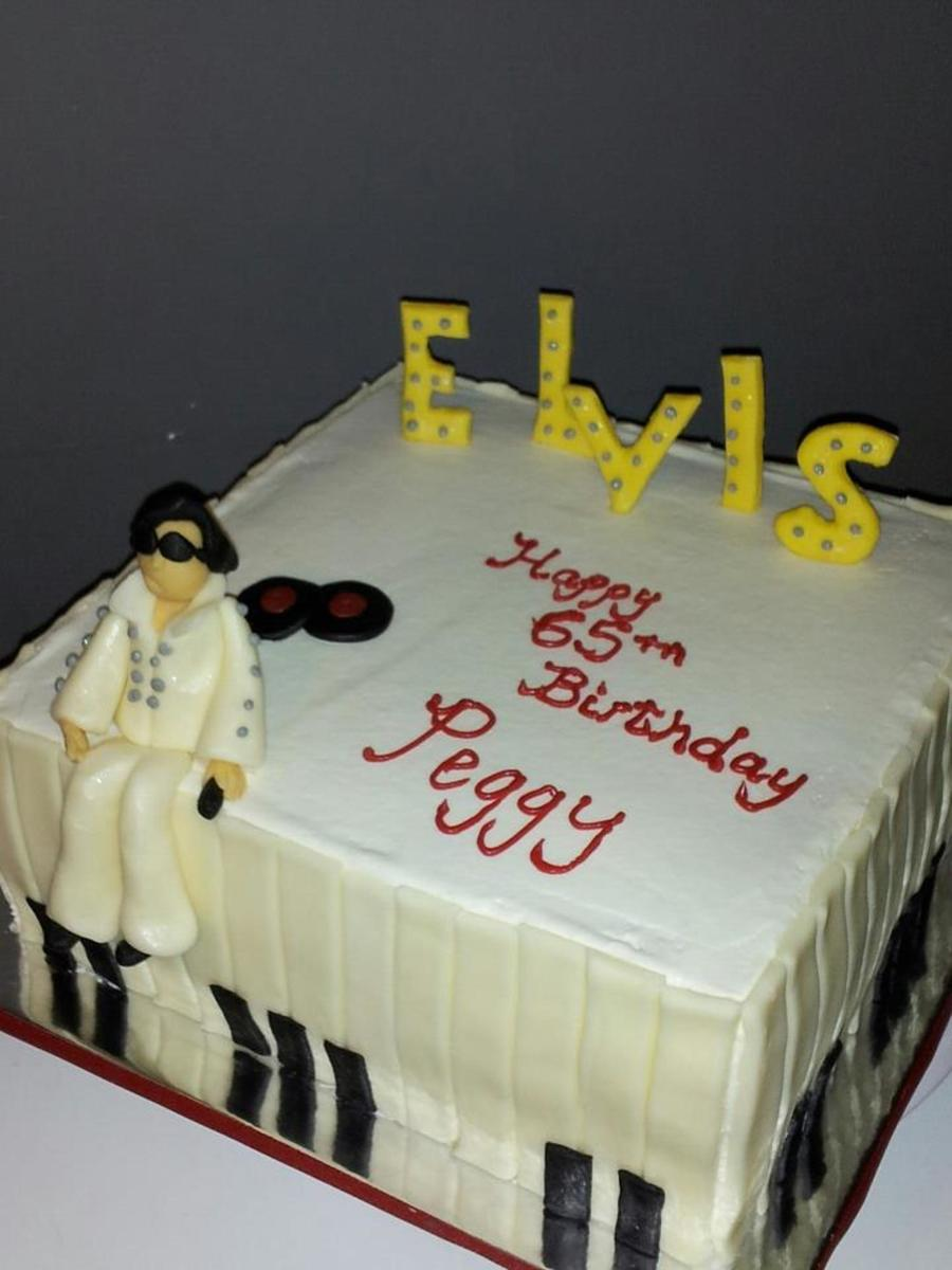 Elvis Presley Cake 3 Layer White Cake With Buttercream Icing Elvis