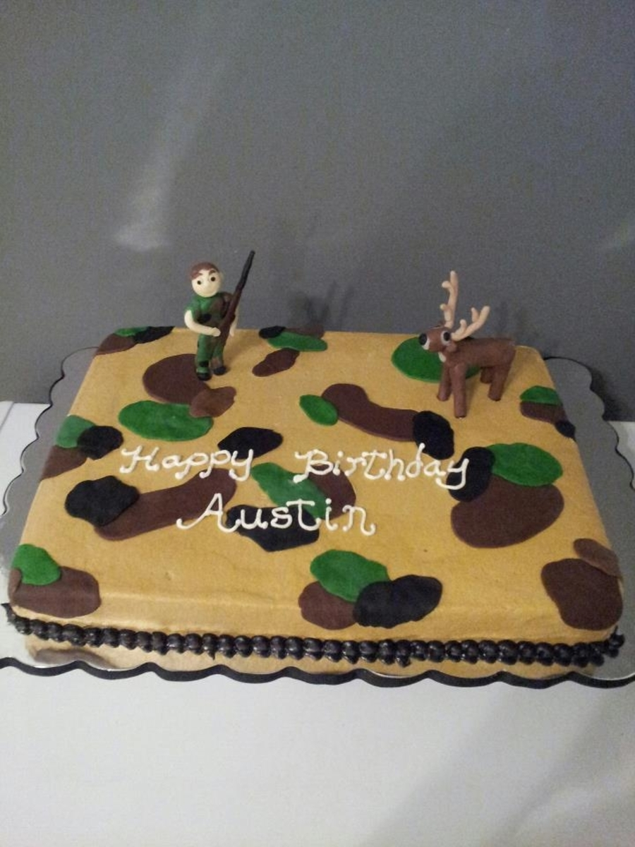 Fine Deer Hunting Birthday Cakes Cakecentral Com Personalised Birthday Cards Veneteletsinfo