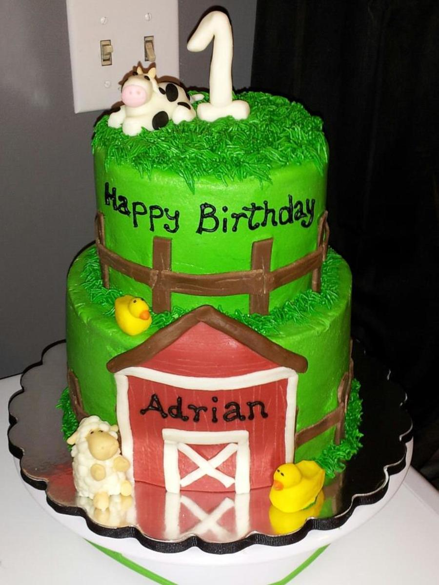 Tiered Farm Birthday Cake Accessories Made From Modeling Chocolate on Cake Central
