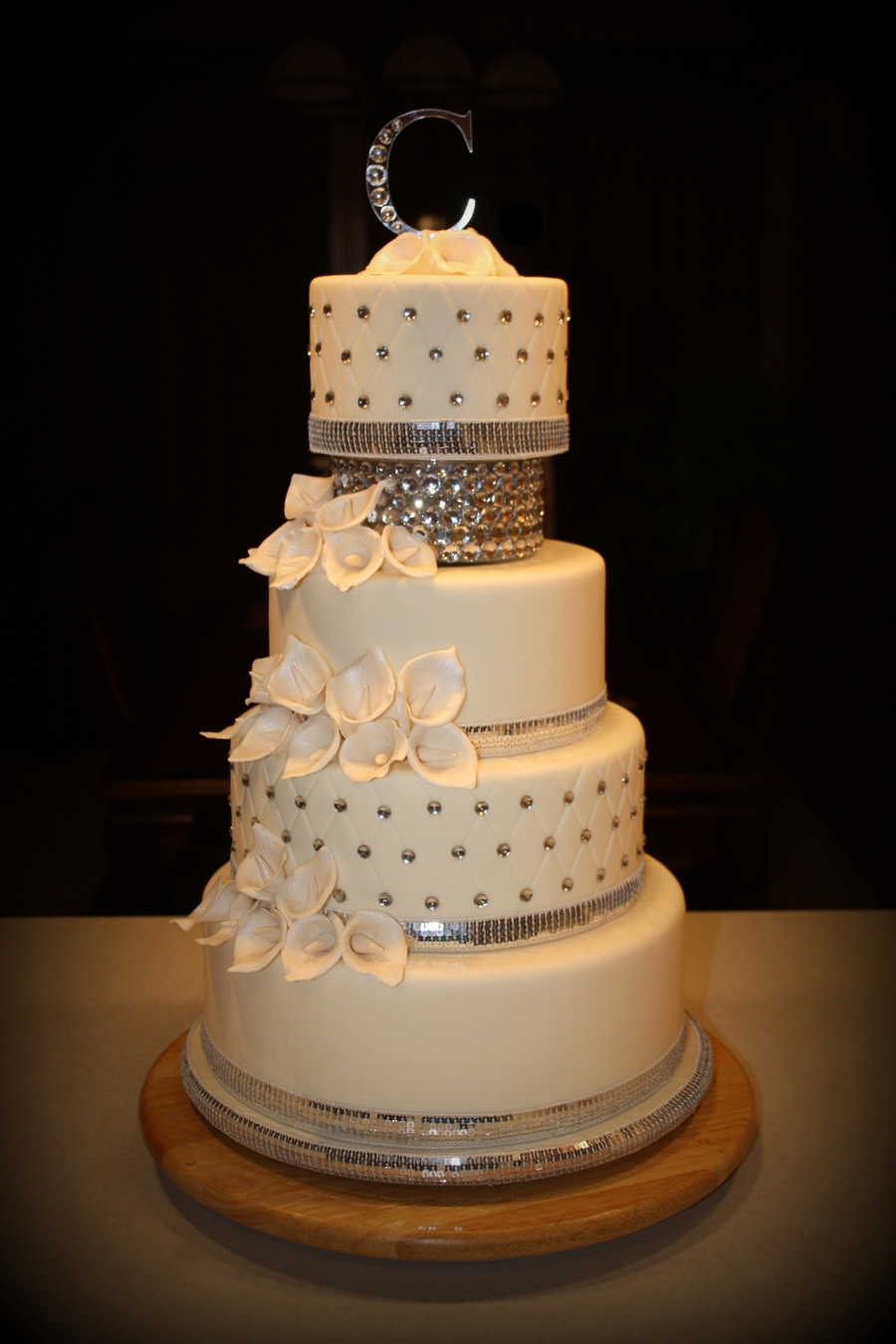 Bling Wedding Cake Cakecentral Com