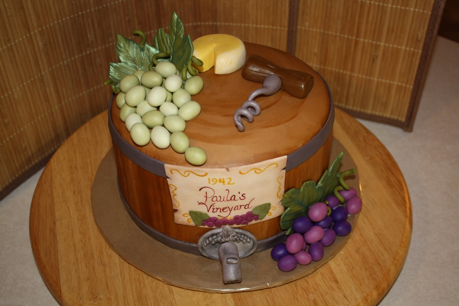 Wine Themed Cake Cakecentral Com