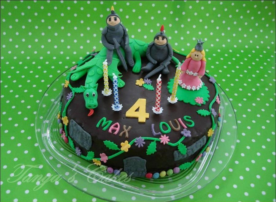 Knights And Princess For The 4 Birthday  on Cake Central
