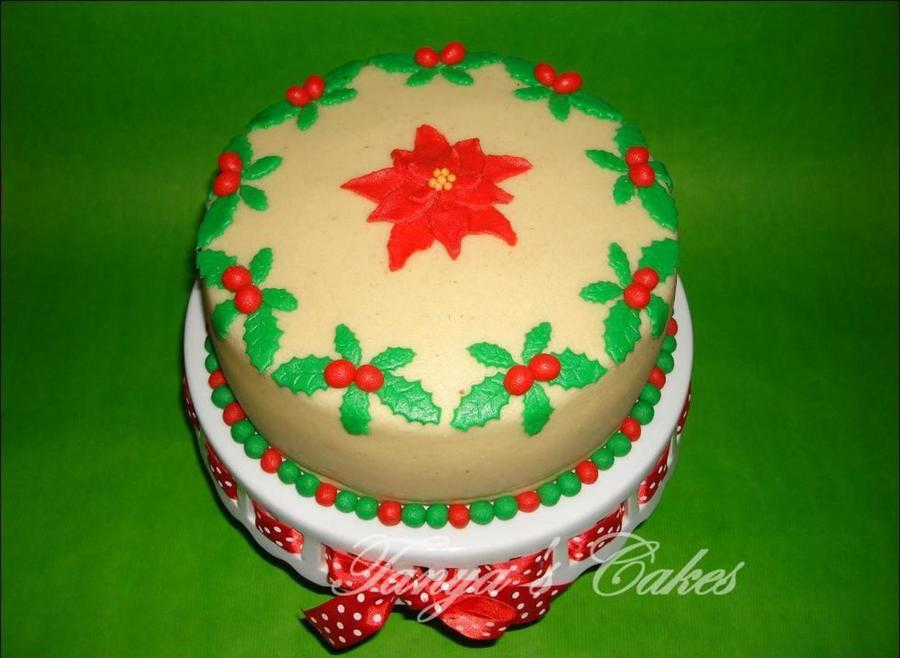 Christmas Cake With Marzipan And Raspberries on Cake Central