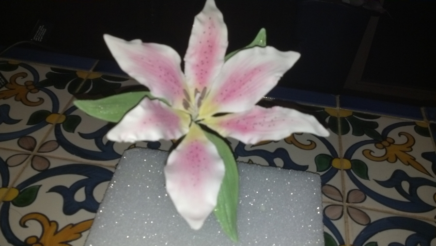 Stargazer Lily on Cake Central