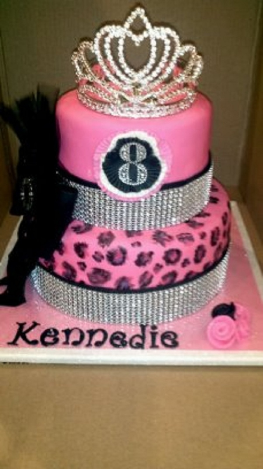 Pink Leopard With A Little Bling on Cake Central