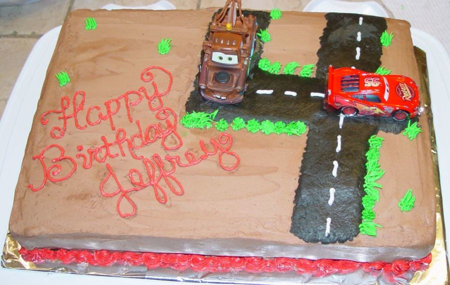 Another Lightening Mcqueen Cake on Cake Central