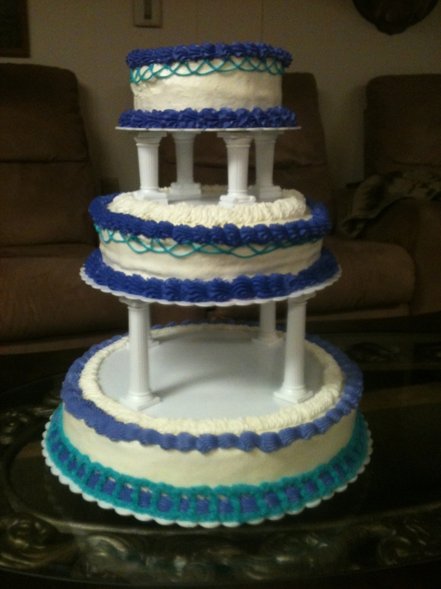 Teal And Purple Wedding Cake  on Cake Central