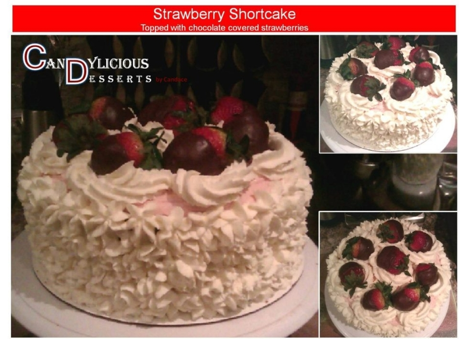Strawberry Shortcake W/chocolate Covered Strawberries on Cake Central