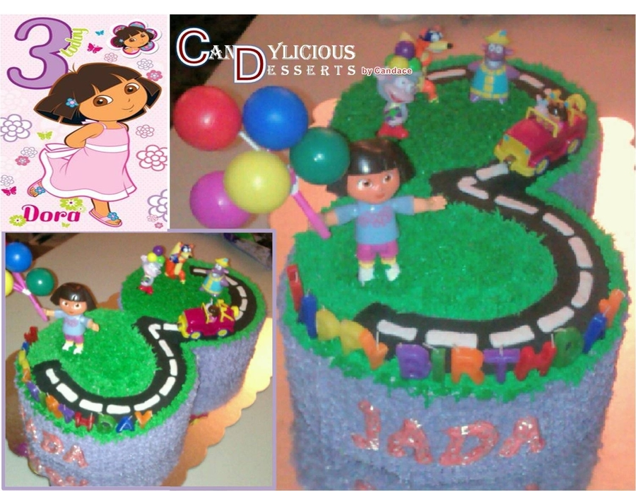 Dora Cake For Three Yr Old on Cake Central