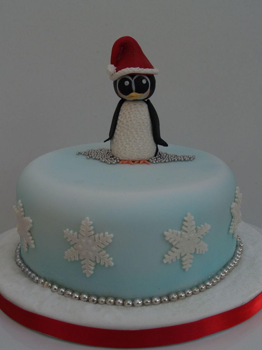 Penguin Christmas Cake - CakeCentral.com