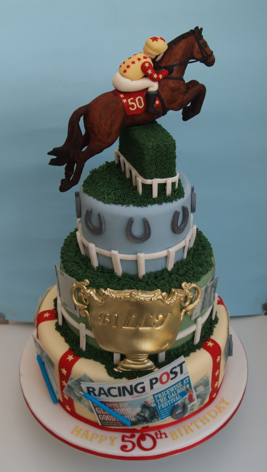 Horse Racing 50Th Birthday Cake CakeCentralcom