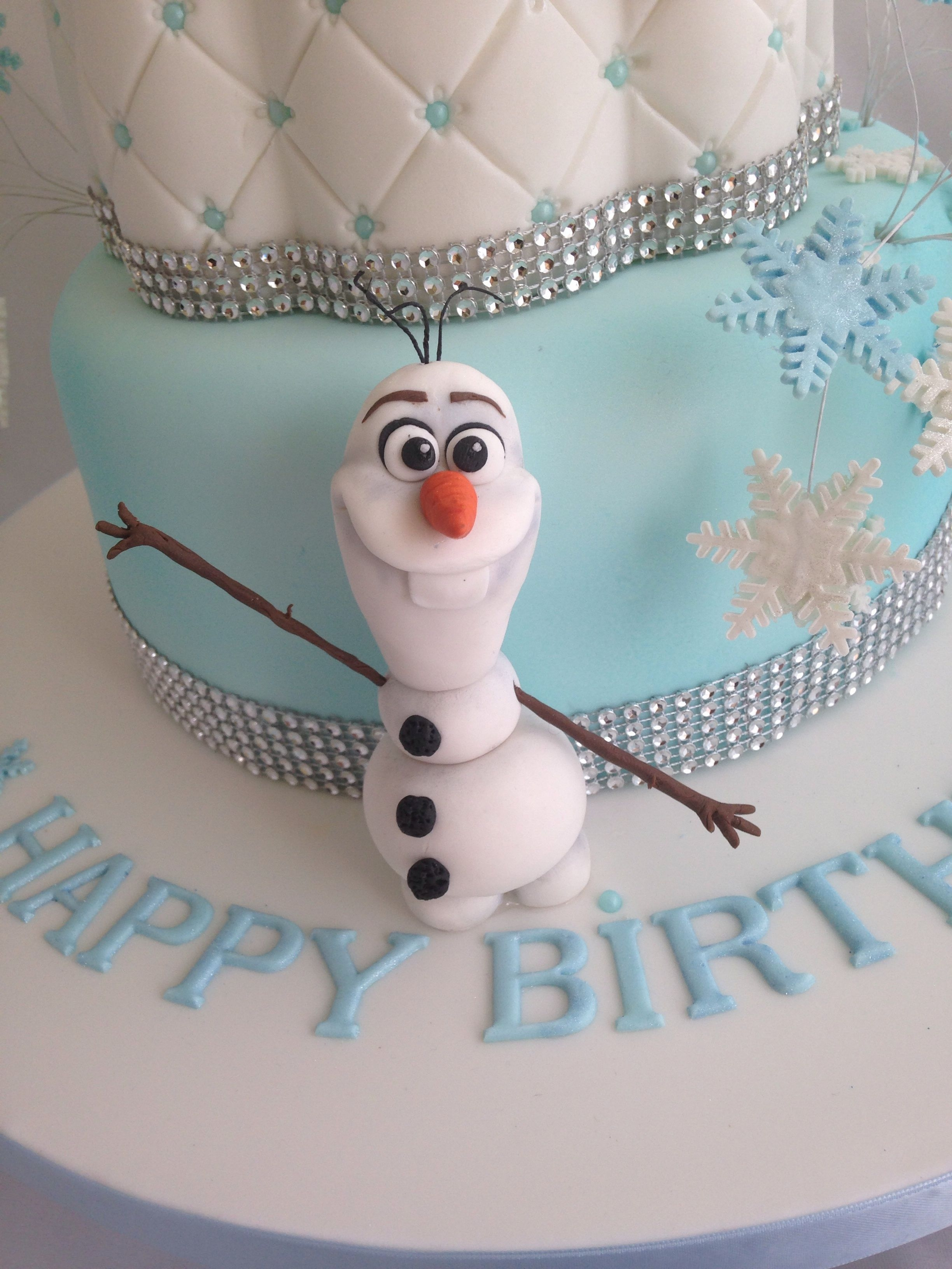 Frozen Birthday Cake With Anna And Elsa As Children CakeCentralcom
