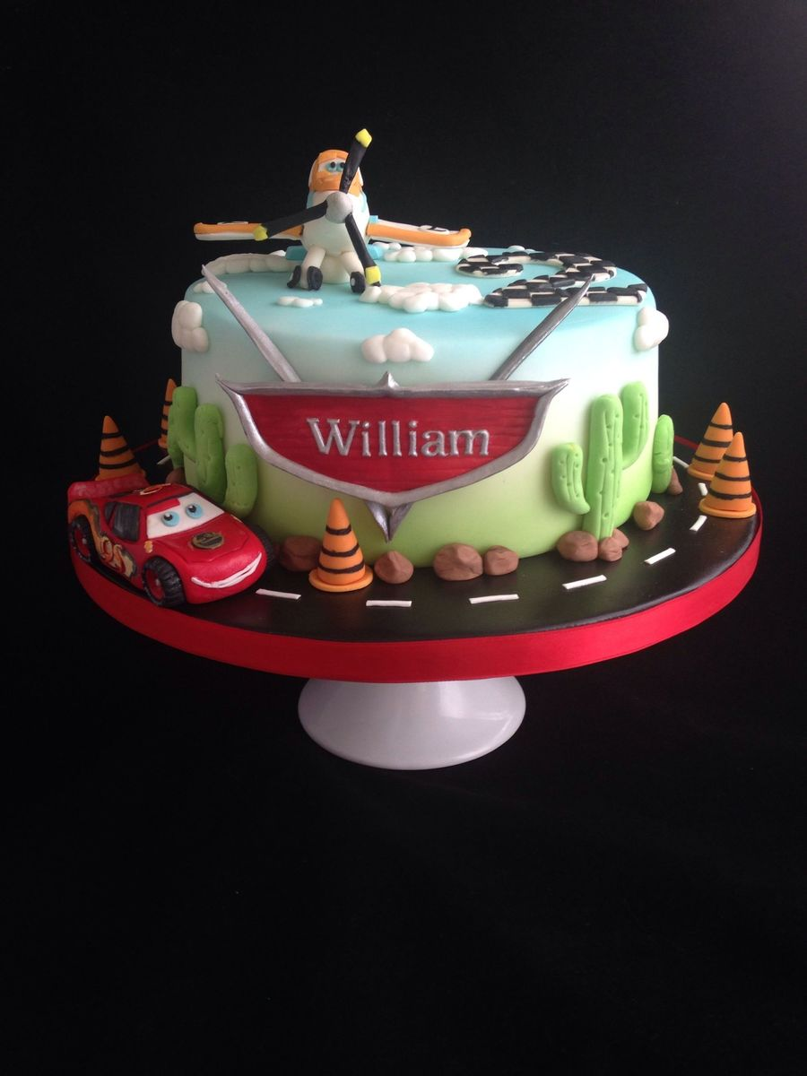 Lightning Mcqueen And Dusty Crophopper Birthday Cake X Cakecentral