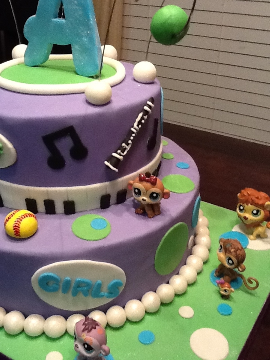 Birthday Cake Full Of Birthday Girls Interests Cakecentral