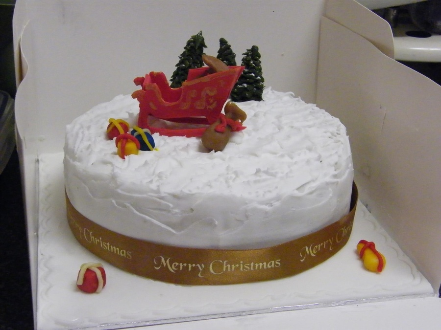 Entirely Edible Including The 3D Sleigh This Was My First Attempt With Royal Icing on Cake Central