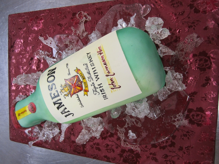 Jameson Bottle  on Cake Central