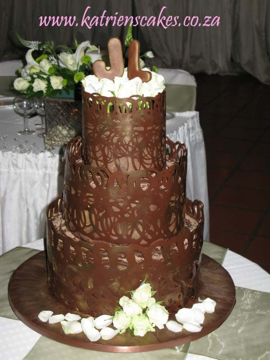 Chocolate Lace Cake on Cake Central