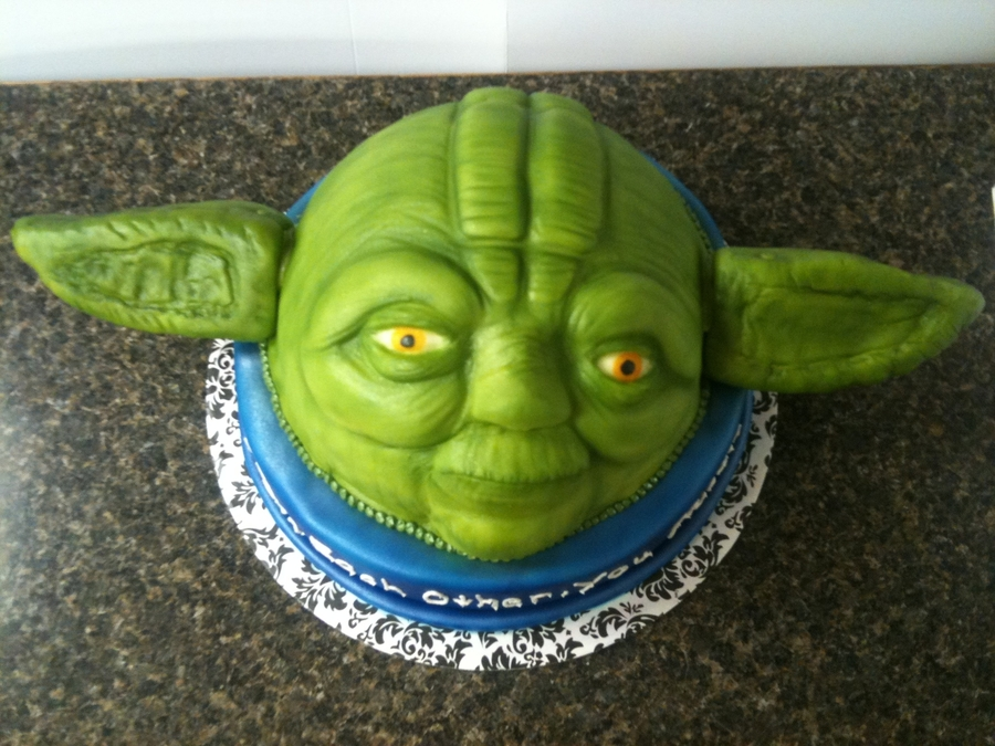 Yoda Groom's Cake on Cake Central
