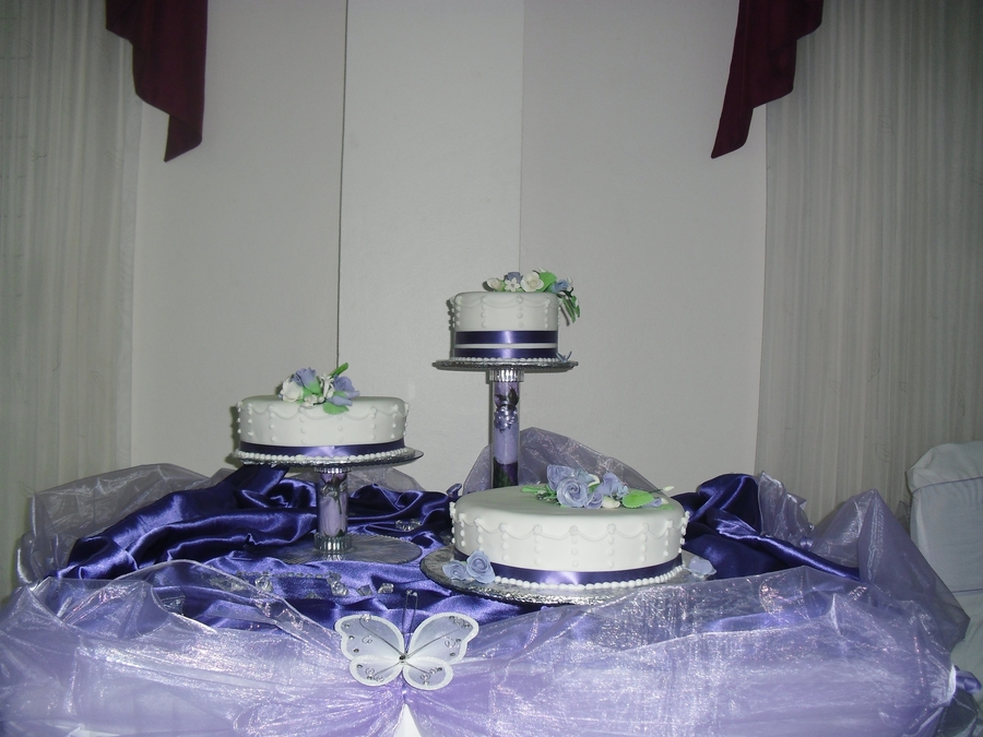 Three Tier Wedding Cake  on Cake Central