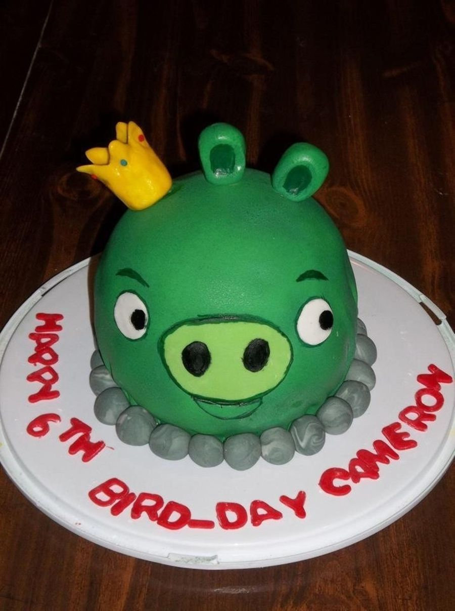 Angry Bird King Pig  on Cake Central