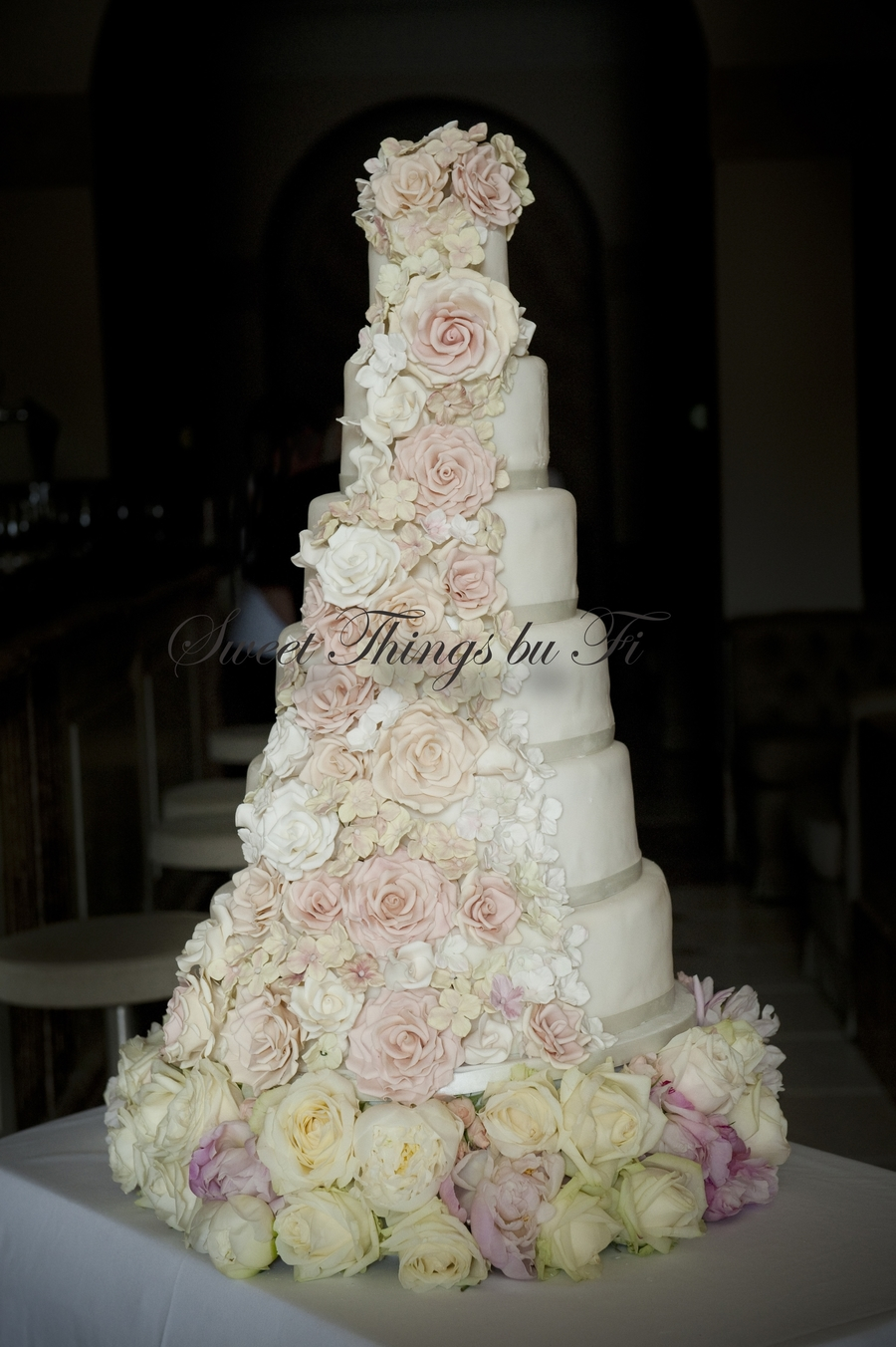 Floral Cascade - 6 Tier on Cake Central