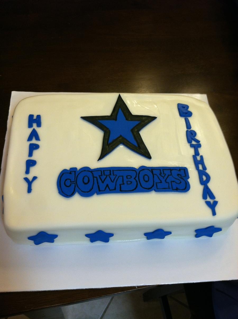 Groovy Dallas Cowboys Birthday Cake Cakecentral Com Funny Birthday Cards Online Alyptdamsfinfo