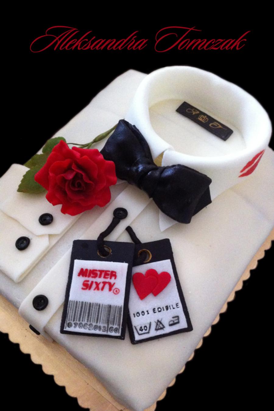 James bond shirt cake number 3 for T shirt cake decoration