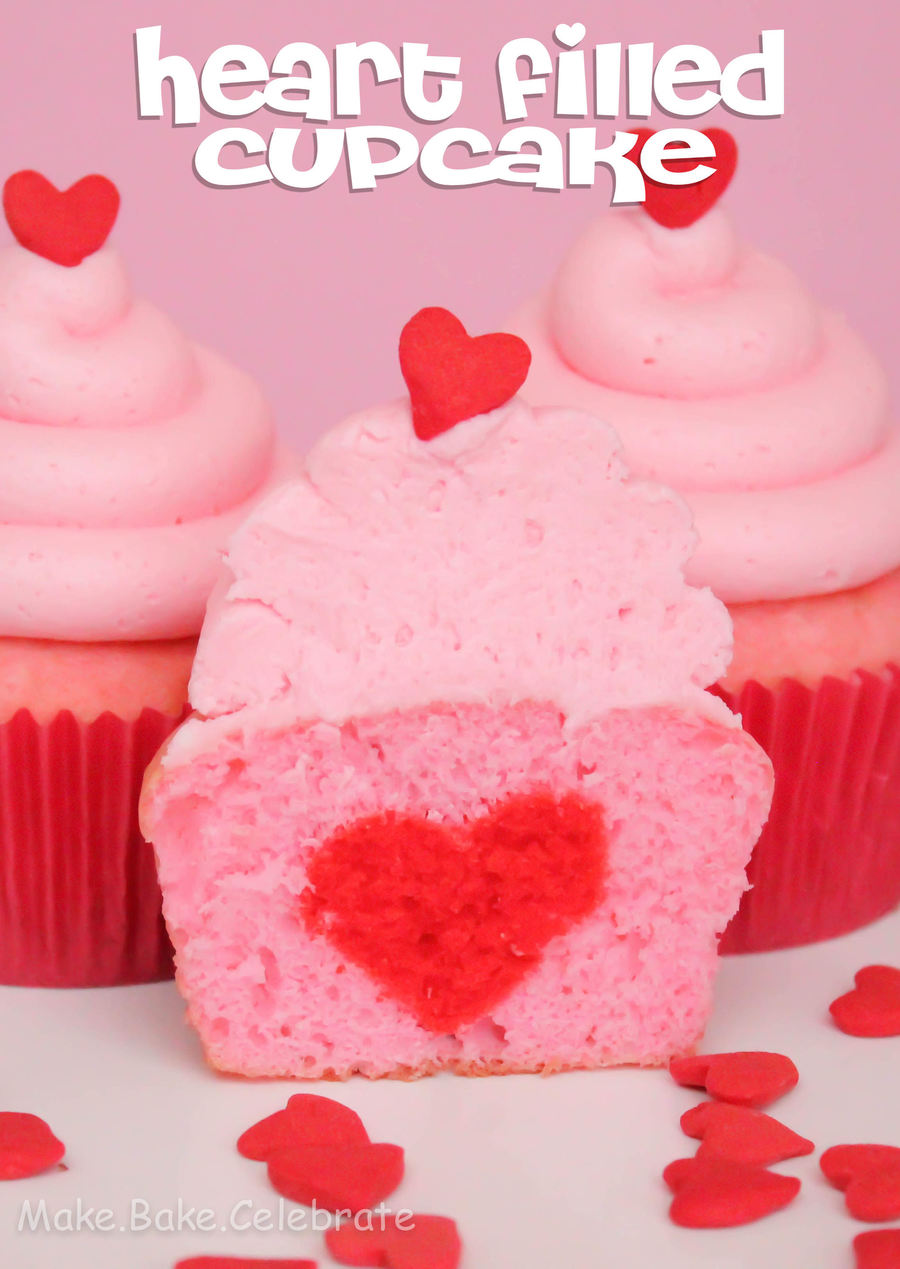 Heart Filled Cupcake For Two.  on Cake Central