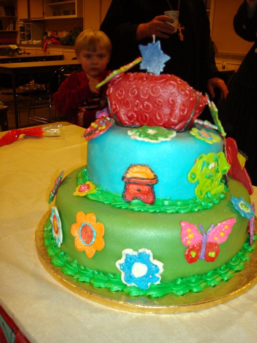 blue u0027s clues garden cake cakecentral com