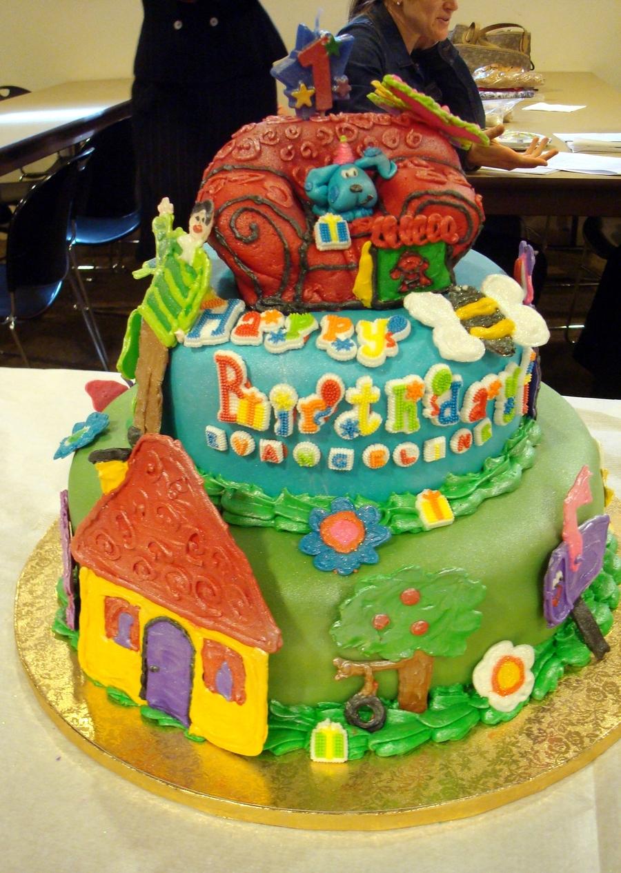 Blues Cluesgarden Girl Cake Cakecentral