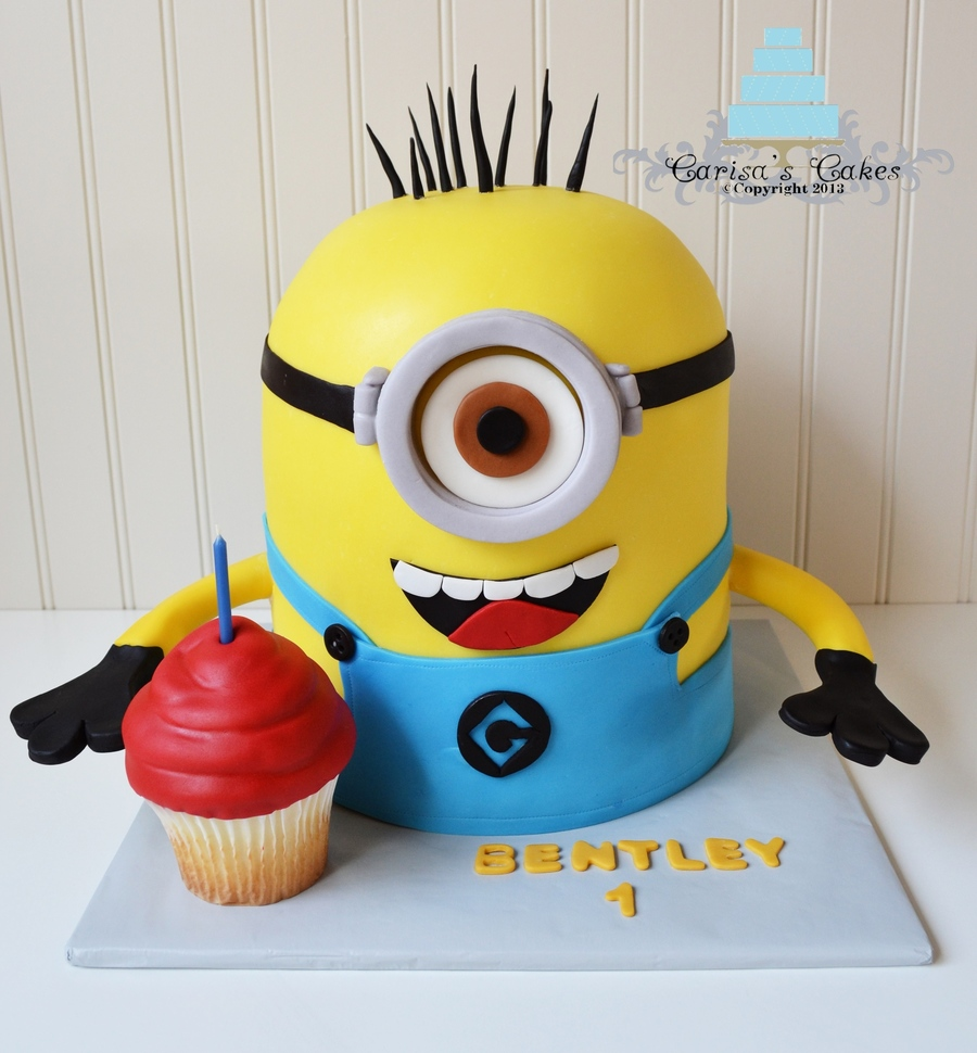 3D Minion Cake on Cake Central