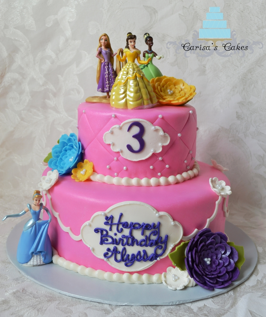 Two Tiered Princess Cake Cakecentral