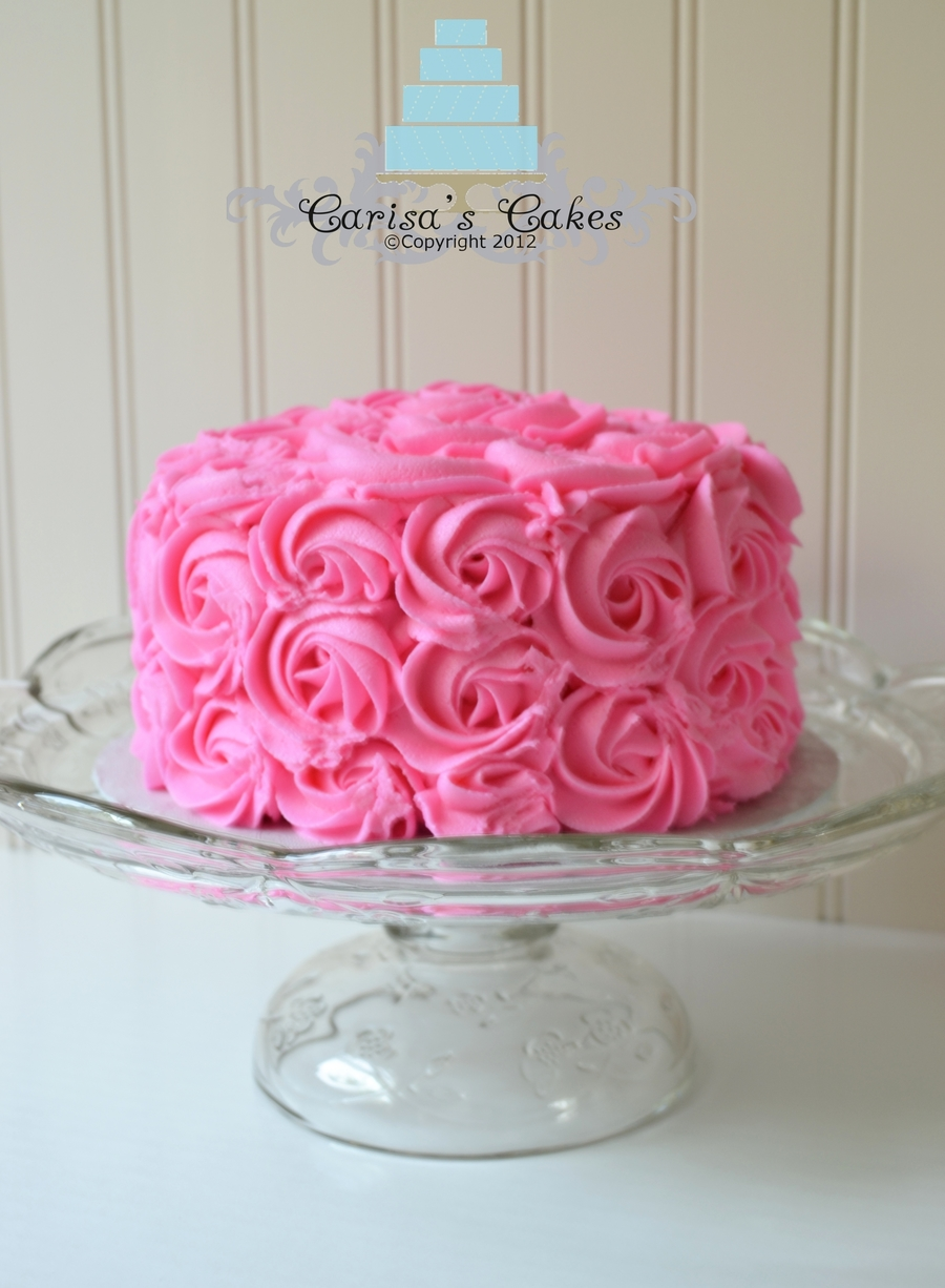 Rose Swirl Smash Cake Cakecentral Com