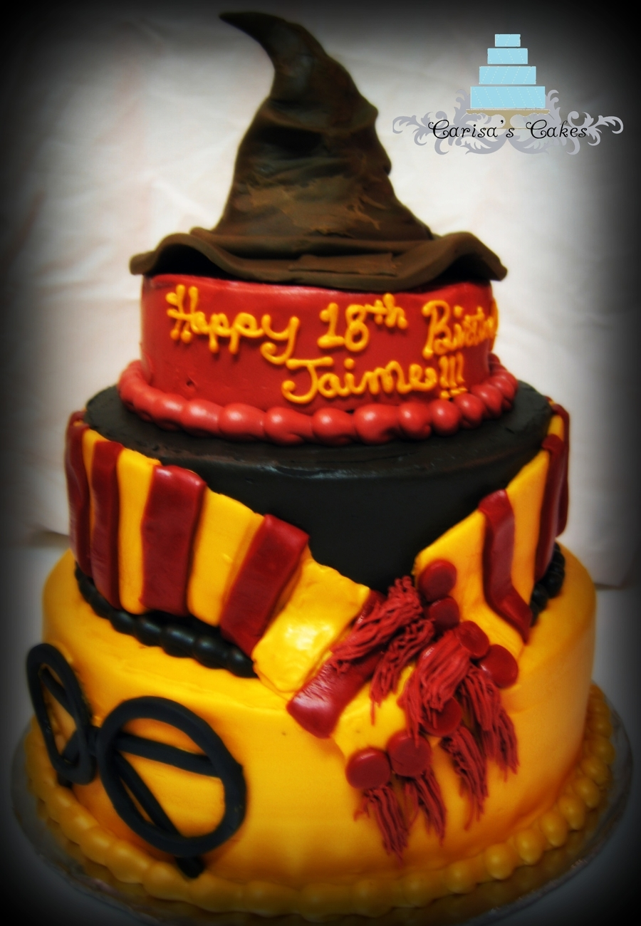 3 Tiered Harry Potter Themed Cake Cakecentral Com