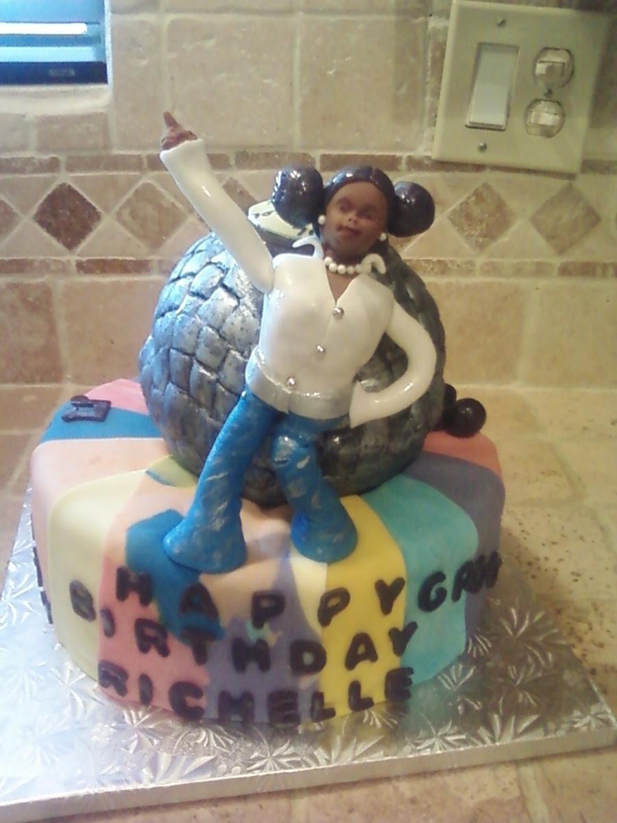 70s Disco Birthday Cake Cakecentral