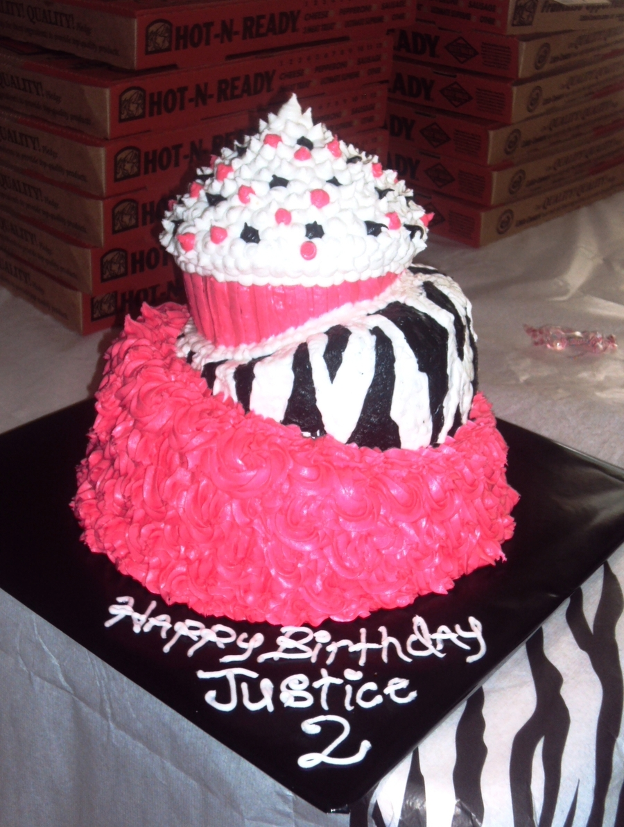Super Pink And Zebra Birthday Cake Cakecentral Com Funny Birthday Cards Online Amentibdeldamsfinfo