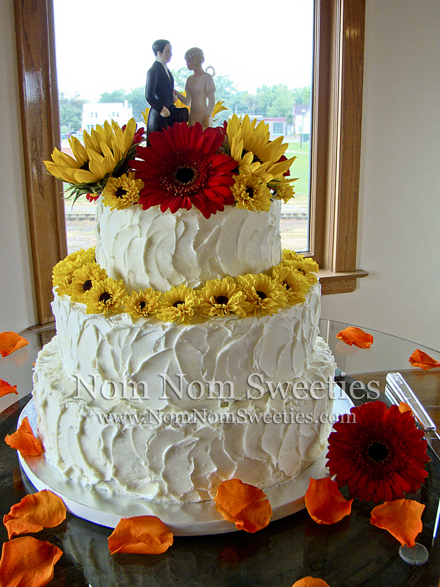 Rustic Fall Wedding Cake on Cake Central