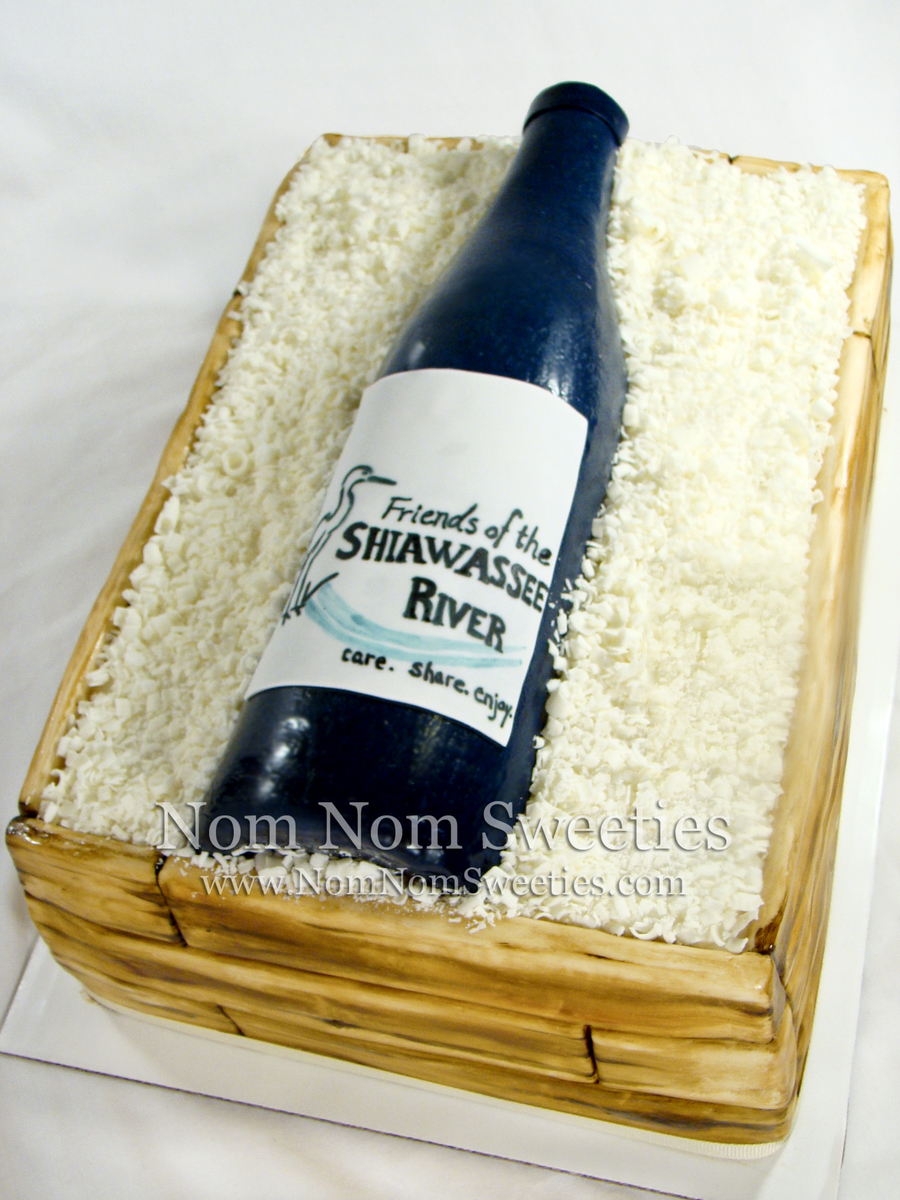 Wine Crate Cake on Cake Central
