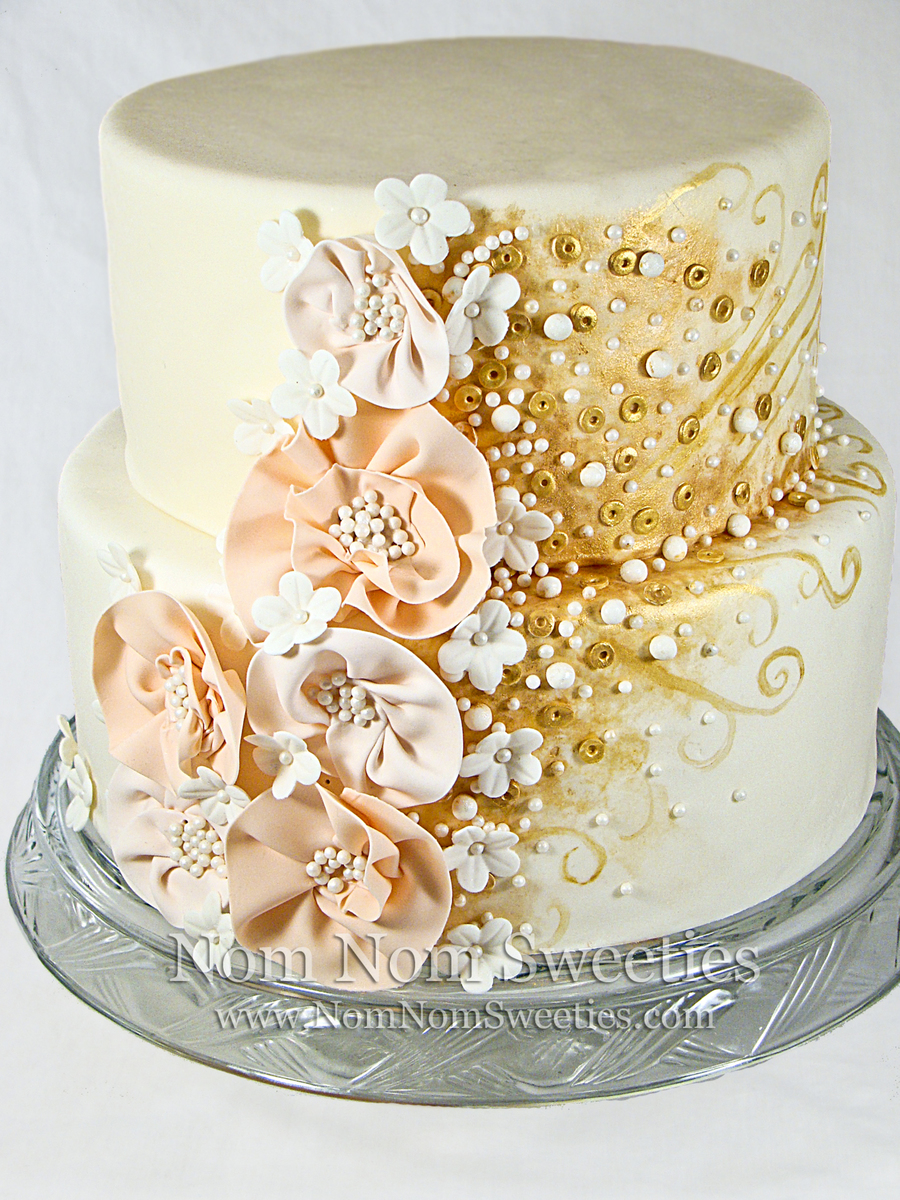 Fashion Inspired Wedding Cake on Cake Central
