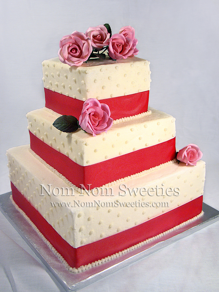 Swiss Dot Wedding Cake on Cake Central
