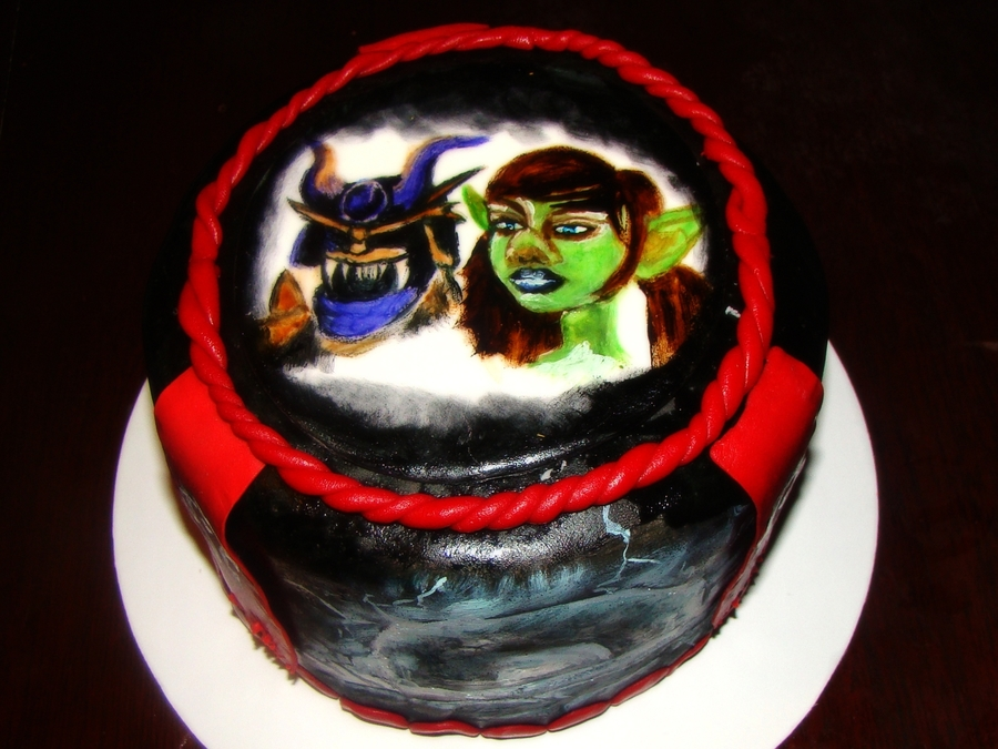 World Of Warcraft Birthday Cake  on Cake Central