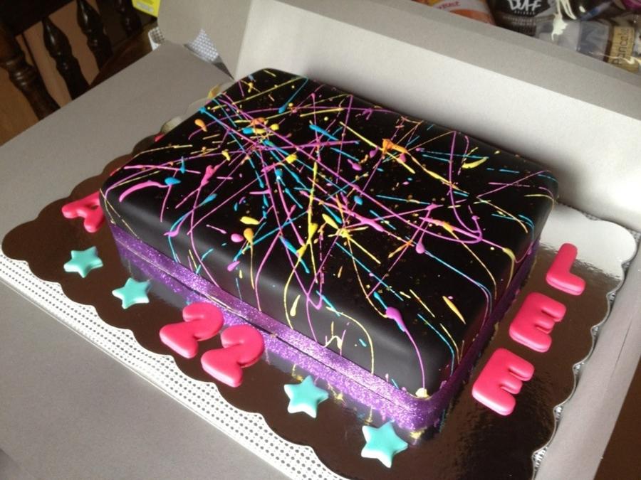 Splatter Cake CakeCentralcom