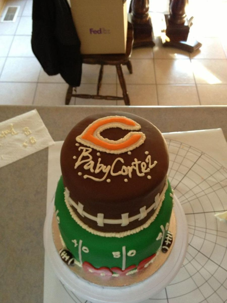 Chicago Bears Baby Shower Cake Cakecentral