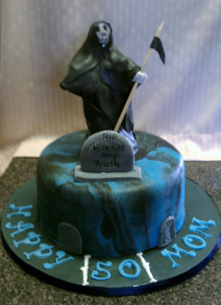 Grim Reaper 50Th Birthday on Cake Central